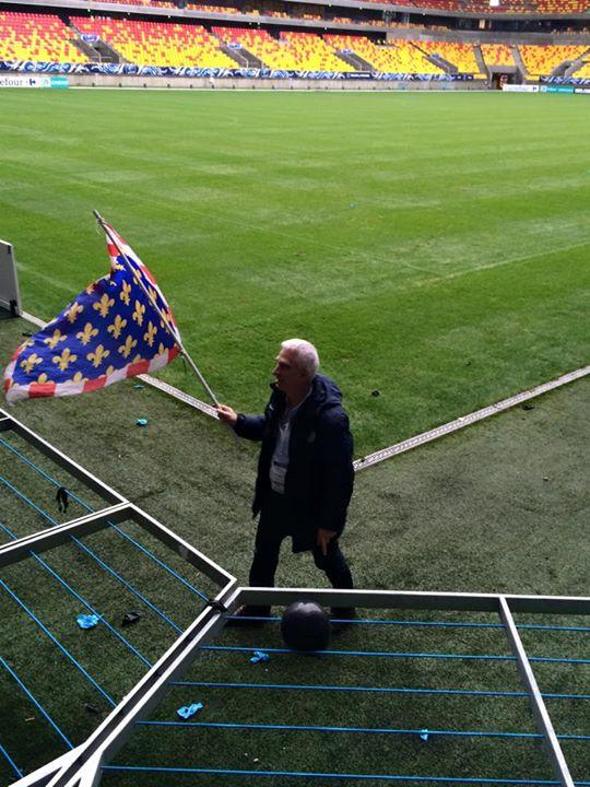 Président Ettori en fin de match