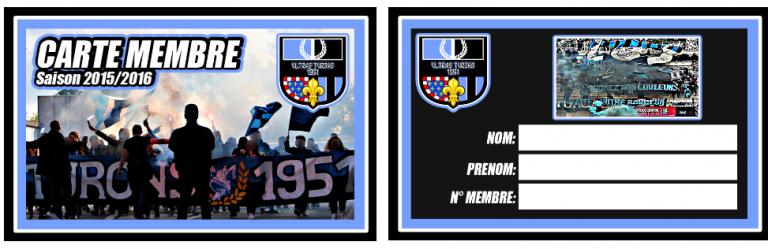 carte de membre Saison 2015/16