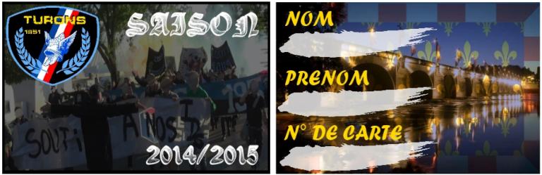 carte de membre Saison 2014/15